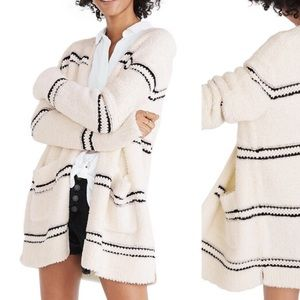 Like new Madewell Striped Boucle Cardigan